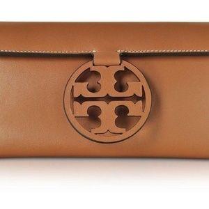 Tory Burch Miller Clutch BNWT Leather Bag Brown